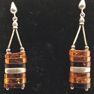 Gorgeous Natural Amber Dangle Earrings